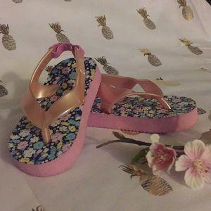 Size 3/4 flip flops